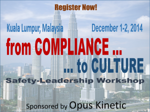From Compliance to Culture Malaysia safety officer training