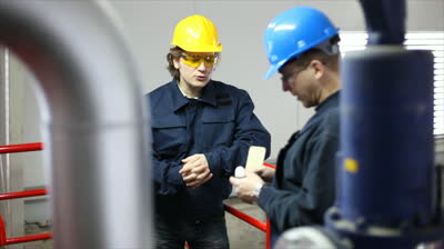 workers talking
