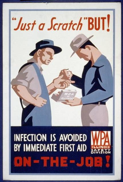 vintage safety poster